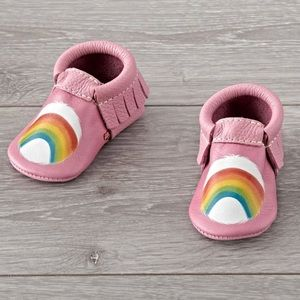 🆕 Freshly Picked Moccasins Care Bear Cheer Sz 2